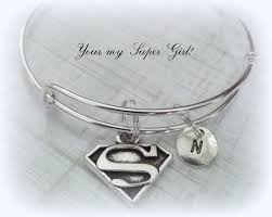 personalized gifts jewelry friend gift supergirl personalized bracelet initial jewelry