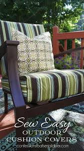 sew easy outdoor cushion cover tutorial diy pinterest outdoor