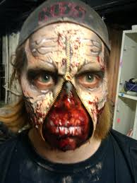 Halloween Liquid Latex Makeup by Zombie Lovin U0027 Zipper Face Zombie