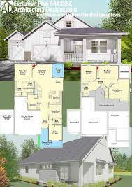 plan 64435sc exclusive farmhouse with optional finished lower