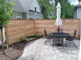 modern horizontal cedar fence straight line fence
