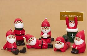 cute santa claus in boot christmas card holder from japan other