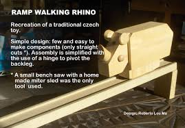 Wooden Toy Plans Free Downloads by The Automata Blog Free Plans For A Ramp Walking Wooden Rhino Toy