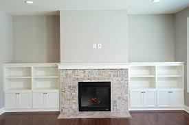 cobblestone france open floor plan white cabinet built ins gas