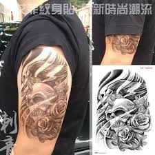 large temporary tattoo stickers waterproof men high quality skull