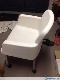 fauteuil simili cuir blanc fauteuil simili cuir blanc tout confort à roulettes a vendre