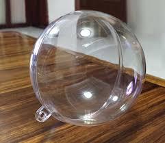 1pc 4 5 6cm clear plastic arcylic fillable ornament plastic