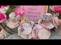 tea party hats diy tiny tea party hats