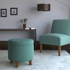 Homepop Storage Ottoman Homepop Boho Tufted Storage Ottoman Teal Homepop