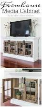 farmhouse media cabinet with free build plans furniture