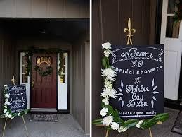 bridal shower signs a wintery bridal shower faux chalkboard sign bracket