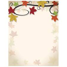 free thanksgiving letterhead fall leaves vine autumn and thanksgiving printer paper your