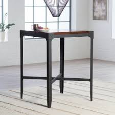 Industrial Bar Table Distressed Industrial Style Pub Tables Hayneedle