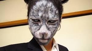 Scary Cat Halloween Makeup Scary Cat Face Makeup Mugeek Vidalondon