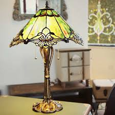 Tiffany Table Lamps Hall Wonderful Tiffany Table Lamps With White Wall Design And