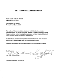 template of letter of recommendation best template collection