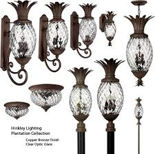 Light Fixture Collections Hinkley Plantation Pineapple Outdoor Collection Discount