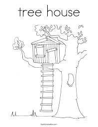 tree house coloring free download
