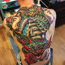 49 perfect traditional back tattoo designs inked on your back