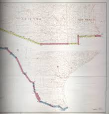 map us mexico border states mexico united states border perry castañeda map collection ut