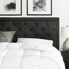 King Tufted Headboards by Brookside Upholstered Charcoal King With Diamond Tufting Headboard
