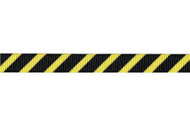 ribbon for construction themed party 3 8 yellow black
