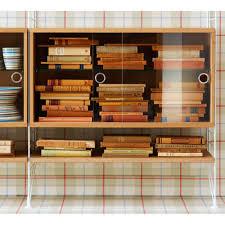 Bookshelves With Sliding Glass Doors String Display Cabinet With Sliding Glass Doors Skandium