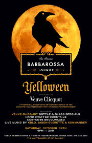 yelloween a veuve clicquot halloween at the new barbarossa lounge
