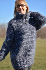 sweater in mens mohair sweater in gray mix tm62