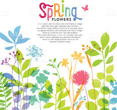 spring flower illustration of colorful spring flowers and stems stock vector art