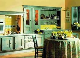 yellow and green kitchen ideas vintage kitchen design with green painted wood kitchen cabinet