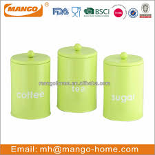 Airtight Kitchen Canisters Green Tea Coffee Sugar Canisters Green Tea Coffee Sugar Canisters