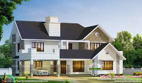 2980 sq ft semi contemporary with colonial style kerala home
