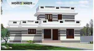 Flat roof 4 Bhk Single Floor Low cost Home Plan
