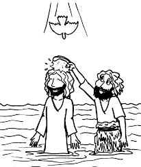 cartoon jesus baptism john baptist coloring netart