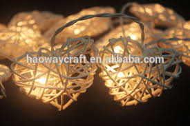 heart shaped christmas lights white love rattan string lights led christmas heart shaped string