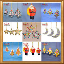beaded wire hanging flat metal ornaments 2016
