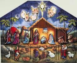 nativity advent calendar advent calendars wooden advent houses christmas advents by tealaden