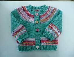newborn baby hand knitted cardigan greenish aqua with multi