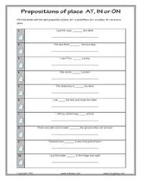 prepositions worksheets for esl