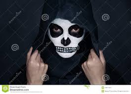 halloween skull makeup stock photo image 44011910