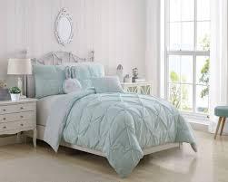 White Gray Comforter 8 Piece Madlyn Ice Blue White Comforter Set