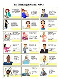 job exercises and vocabulary 3 pages esl worksheets of the day