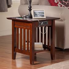chairside table with charging station atlantic furniture houlton chair side table with charging station