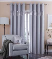 catherine lansfield silk sequin curtains 90x90 silver amazon co