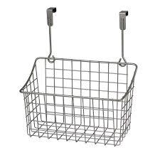 Cabinet Door Basket Medium The Cabinet Door Wire Grid Basket Nickel At Home