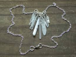 crystal necklace rock images Crystal point statement necklace mineral statement necklace rock jpg