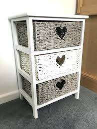 Shabby Chic Bathroom Storage Bathroom Storage Baskets For Grey White Storage Cabinet