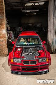 bmw m3 stanced modified bmw e36 m3 touring fast car