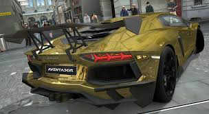 red chrome lamborghini lamborghini aventador lp700 4 gold chrome gran turismo 5 72594